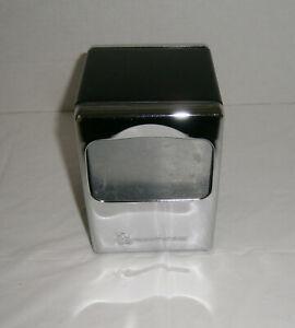 """James River Chrome & Black Double Sided Napkin Dispenser Holder 4-3/4"""" x 3-1/2"""""""