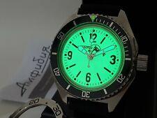 Vostok Amphibian Amphibia Military Komandirskie Automatic Watch Full Lumed Dial