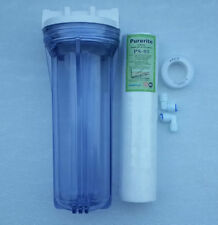 "For RO,UV,Water Purifier Transparent 10"" Pre-Filter bowel+Kemflo PP Spun Filter"