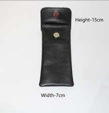 Glasses Case Genuine Full Grain Leather With Padding Protection ZIPPER . 11036