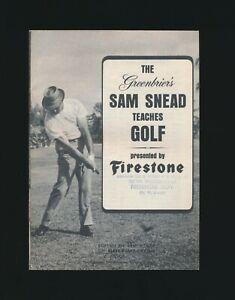 "1966 Firestone Tires ""The Greenbrier's SAM SNEAD Teaches GOLF"" Booklet"