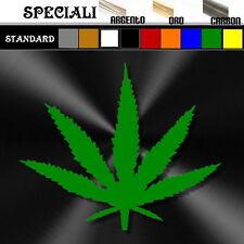 adesivo sticker cannabis MARJUANA prespaziato auto,moto,casco 11 x 9,5 cm