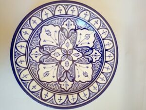 Beautiful handmade & hand painted Moroccan Decorative Ceramic Plate And Bowl 16""
