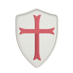 KNIGHTS TEMPLAR ARMOR SHIELD hook PATCH embroidered CRUSADES RELIGIOUS MILITARY