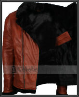 Men's Vintage B3 Pilot Aviator Fur Shearling Biker Fighter Jet Leather Jacket