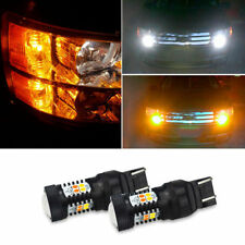 Amber white Switchback 7443 LED Turn Signal Light Bulb for Chevrolet Ford GMC F2