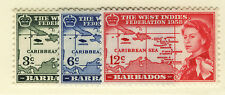 BARBADOS 1958 CARIBBEAN FEDERATION BLOCKS OF 4 MNH