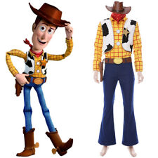 Toy Story 4 Woody Cowboy Outfit Cosplay Costume Adults Uniform Hat Full Set