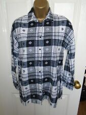 Atmosphere Black and White Checked Long Shirt Size 6