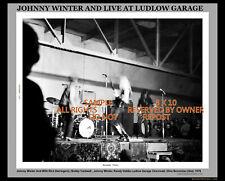 Johnny Winter And Ludlow Garage Bw Cincinnati Ohio Nov 22 1970 Le #14/20 Coa Exc