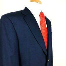 Hart Schaffner Marx Size 42L Navy Blue Sport Coat Blazer Gold Crest Buttons