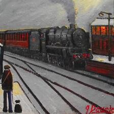 Original BEST Oil Painting Noted Artist James Downie : Edgeley Station