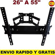 "SOPORTE DE PARED TV LCD LED PLASMA MONITORES PARA 26"" A 55"".GIRATORIO INCLINA"