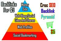 create High PR backlink pyramid increase google rank seo