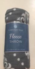 Comfort Bay Fleece Throw Blanket Winter Warmth Theme 50� x 60� Soft and Warm New