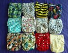 Lot of 12 AIO One Size NIP Tagless ALVA cloth double-gusset diaper US Seller