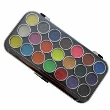 21 WATER COLOUR PAINT SET BRUSH PAINTING ART CRAFT KIDS CHILDREN WATERCOLOUR