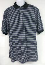 Men's Nicklaus Size Large 100% Cotton Striped 2 Button Polo Shirt