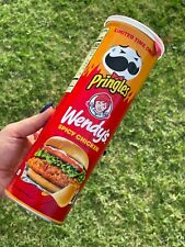 NEW PRINGLES LIMITED EDITION WENDY'S SPICY CHICKEN SANDWICH FLAVOR!!!!!!!