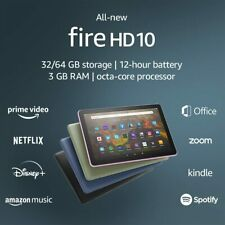 """All-new Fire HD 10 tablet, 10.1""""1080p Full HD 32GB latest model (2021 release)"""