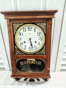 welby wall clock 31 Day regulator with Key. Made in Japan. As is