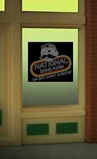 Light Works Usa / Miller Ho / O Scale Natty Boh Beer Window Sign Lighted #8845