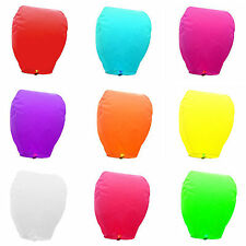 10x Chinese Paper Lanterns Sky Fly Candle Lamp For Wish Party Wedding Mix Colors