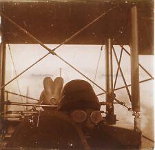 Aviateur militaire Guerre 14-18 WWI Photo Stereo Plaque de verre VR12hg