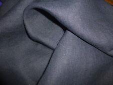 Grande Puro Pesante Tessuto In Lino Blu Colore Nero 240 gsm,146 cm ampiezza