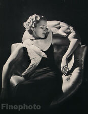 1935 FEMALE FASHION Dove Hair Poland Photo Art Deco HARRY MEERSON 16x20 Mounted!