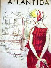 Atlantida Art Cover PARIS GIRL KERCHIEF 1960 Matted