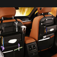 1x Car Seat Back Bag Organizer Storage iPad Phone Holder Pocket Black Leather