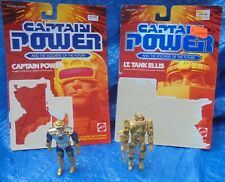 1987 Captain Power Soldiers Of The Future Action Figure & Cardback Lot Tank VTG