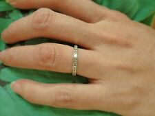 Estate designer platinum 9 diamond wedding anniversary band ring 4.5  2mm 3.3g