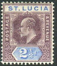 ST LUCIA-1902-03 2½d Dull Purple & Ultramarine Sg 60 LIGHTLY MOUNTED MINT V14444