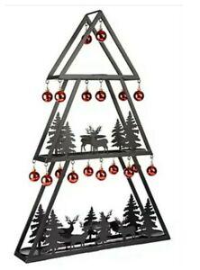 ELAMBIA Kerzenhalter Weihnachtsbaum inkl. Kugeln Höhe ca. 84cm xa4