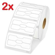 2 Rolls DYMO Compatible 30299 Barbell Shape Price-Tag Cable-tag Jewelry Labels
