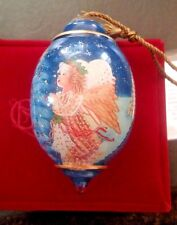 'My Christmas Wish' Hand blown/painted Angel Orn. COA Dona Gelsinger 2012 in Box