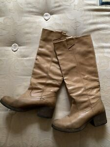 Long Leather Boots By Bertie