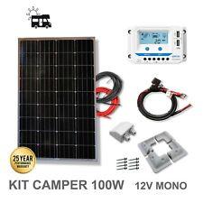Viasolar KIT 100W CAMPER 12V Panel Solar y Regulador (2309KCPP100M5 )