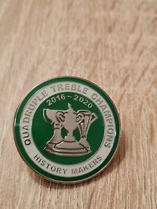 Celtic Fc Quadruple Treble Champions Badges