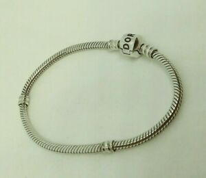 Authentic Retired Small PANDORA Sterling Silver BRACELET 7.1 In. #590702HV