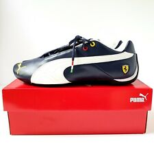 Puma Future Cat SF Leather Shoes Mens 11.5 (305470-06) Mystic Blue Ferrari - NEW
