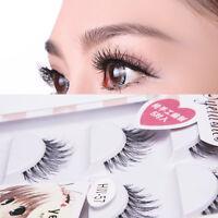 Mode Falsche Wimpern 5Paar Damen Fake künstliche  Handgemacht Eye Lashes best