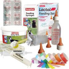 Beaphar Lactol Kitty Milk Formula Cat Kitten Bottle 2 Feeding Syringes ID Bands