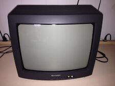 "SHARP 13J-M100 TV Retro CRT Gaming Video 13"" Tube Television (No Remote)"