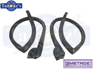 73-7 GM A Body Roof Rail Weatherstrip Seals Front 4 Door Stationwagon & Htop Sdn