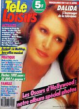 Mag TELE LOISIRS 1988: DALIDA_PETER USTINOV_MICHEL BLANC_BLACK