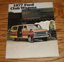 Original 1977 Ford Club Wagon Sales Brochure 77 E-100 150 250