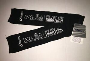 Asics New York City Marathon Arm Warmers for Running Thermal Jogging 1 pair new